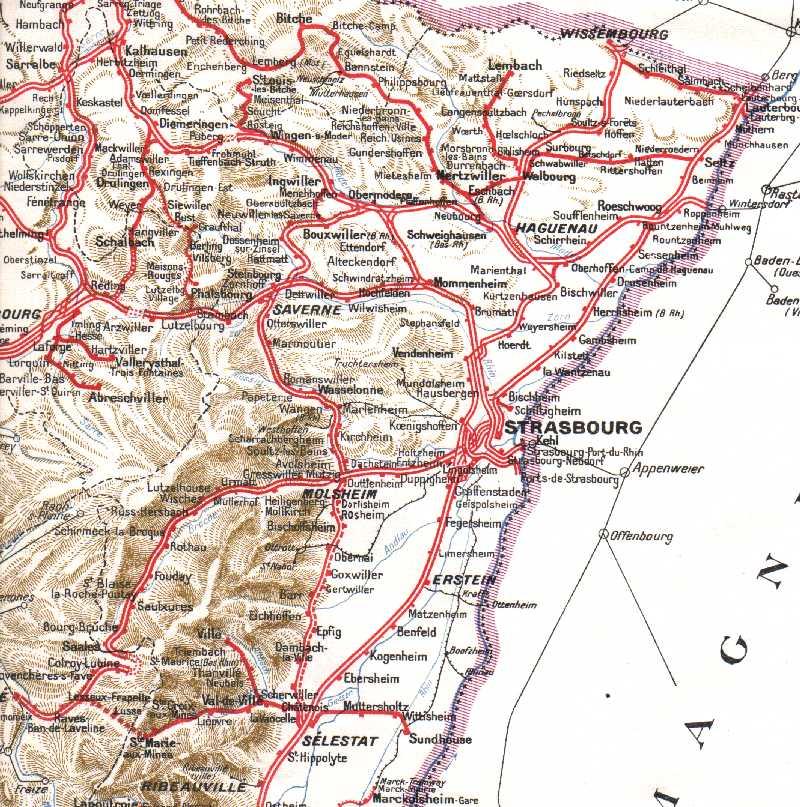 Carte Ferroviaire Alsace.Les Lignes